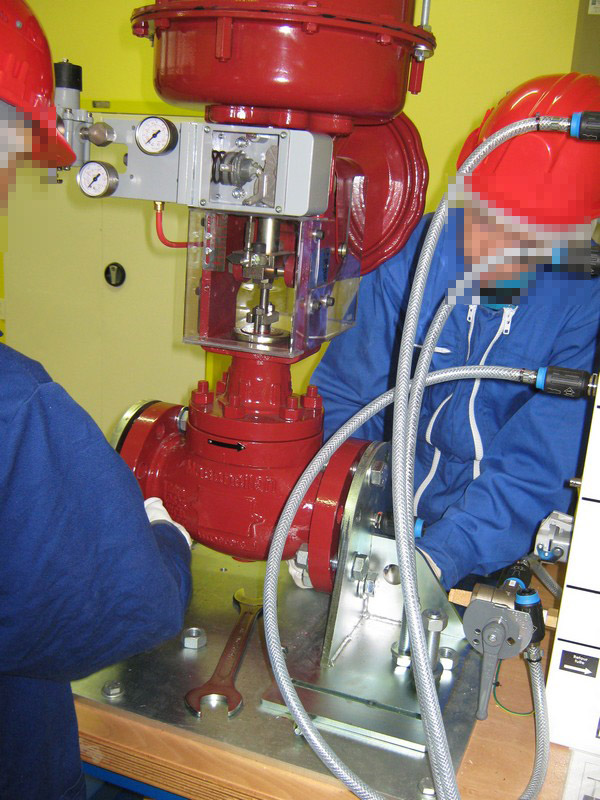 Réglage d'un robinet à commande électro-pneumatique