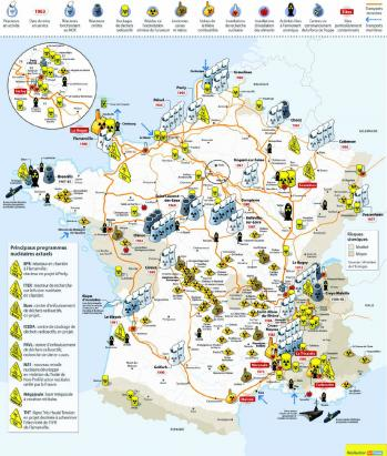 France nucleaire carte complete hors inbs